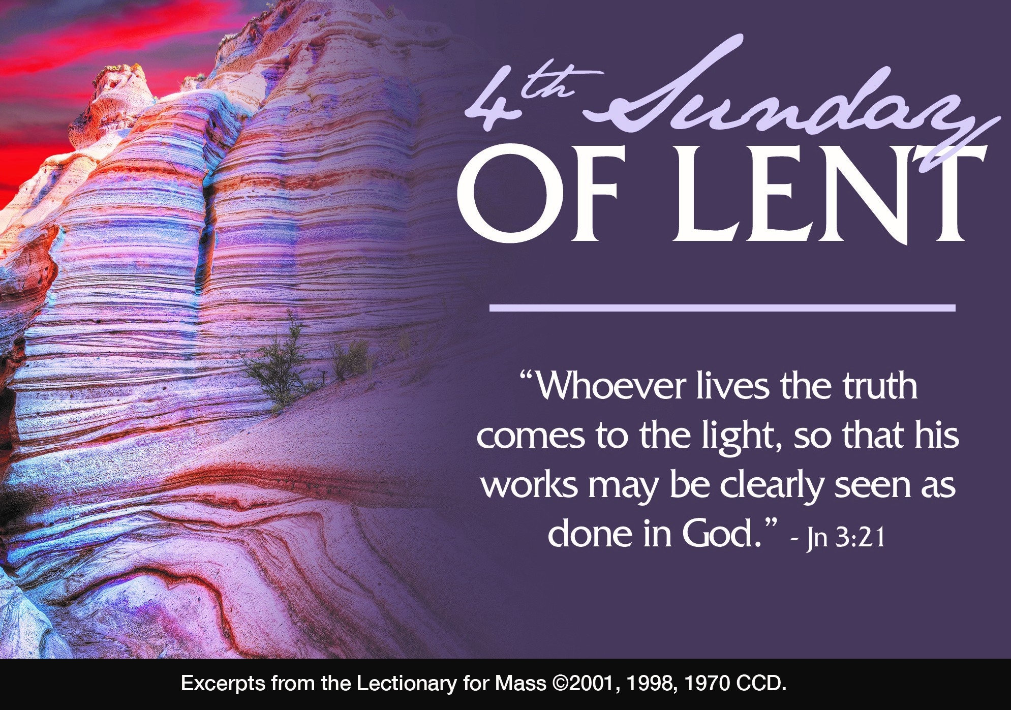 4Th Sunday Of Lent: Mass With Fr. Gerry Deluney - Corpus  Lectionary For Lent 2020