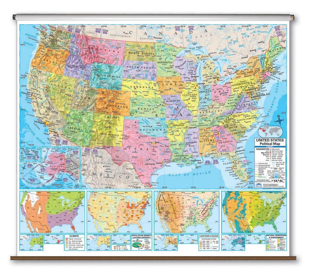 Advanced Political Map - United States  The Map Of The United States