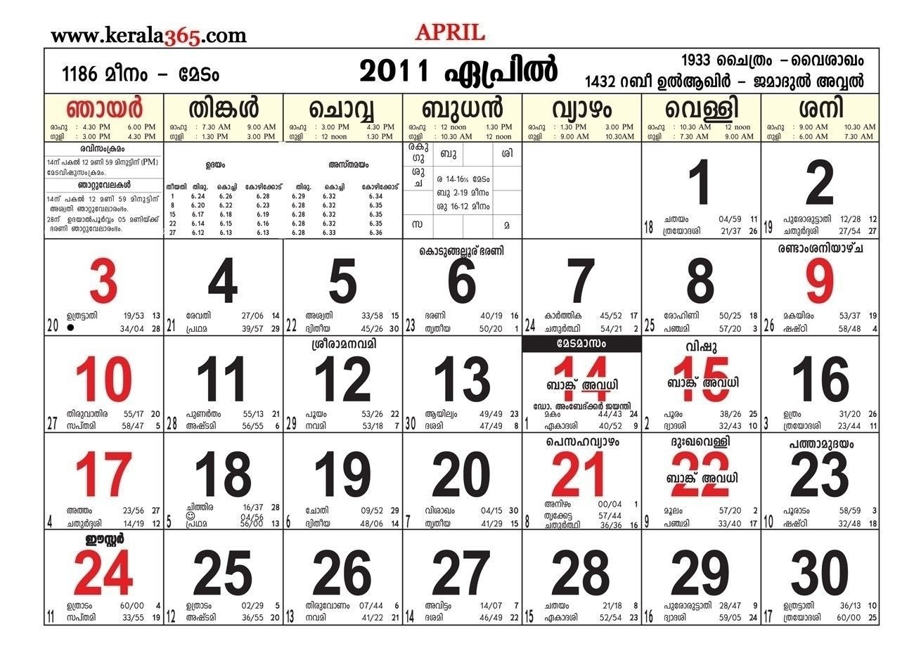 April 2019 Calendar Malayalam | Calendar Format Example  Manorama Calender 2020 Aprill