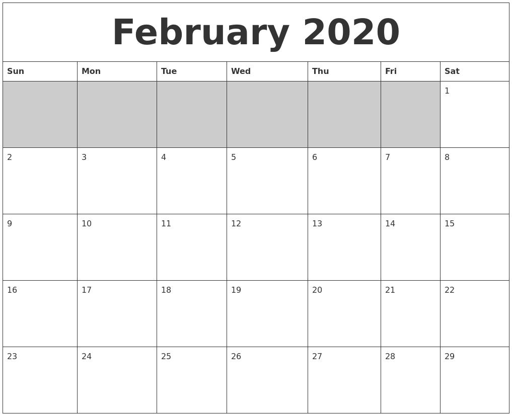 April 2020 Free Online Calendar  A3 Calendar 2020