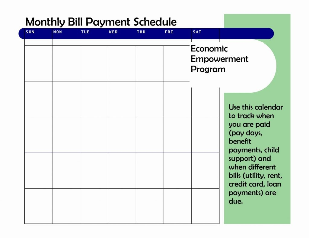 Bill Pay Spreadsheet Excel Awesome Payment Calendar Schedule  Bill Payment Schedule