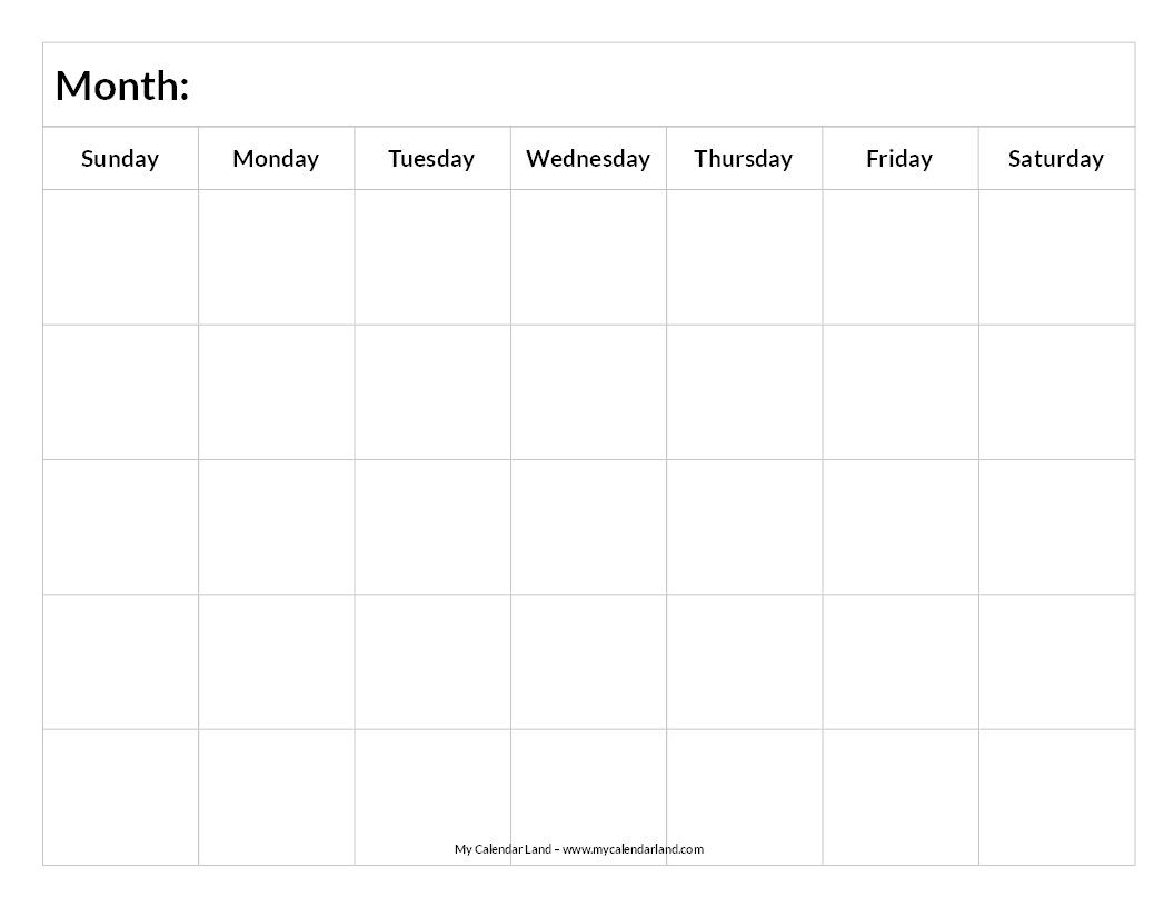 Blank Calendar Printable | Blank Calendar, Calendar  File:///u:/depo Perpetual Calendar.pdf