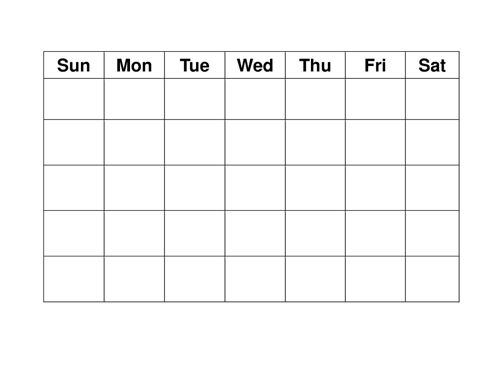 Blank Weekly Calendars Printable | Blank Calendar Template  Blank Weekly Calendar