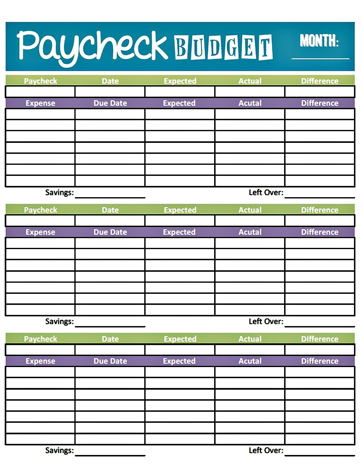 Bonfires And Wine: Livin' Paycheck To Paycheck - Free  Fillable Monthly Bill Payment Worksheet Pdf