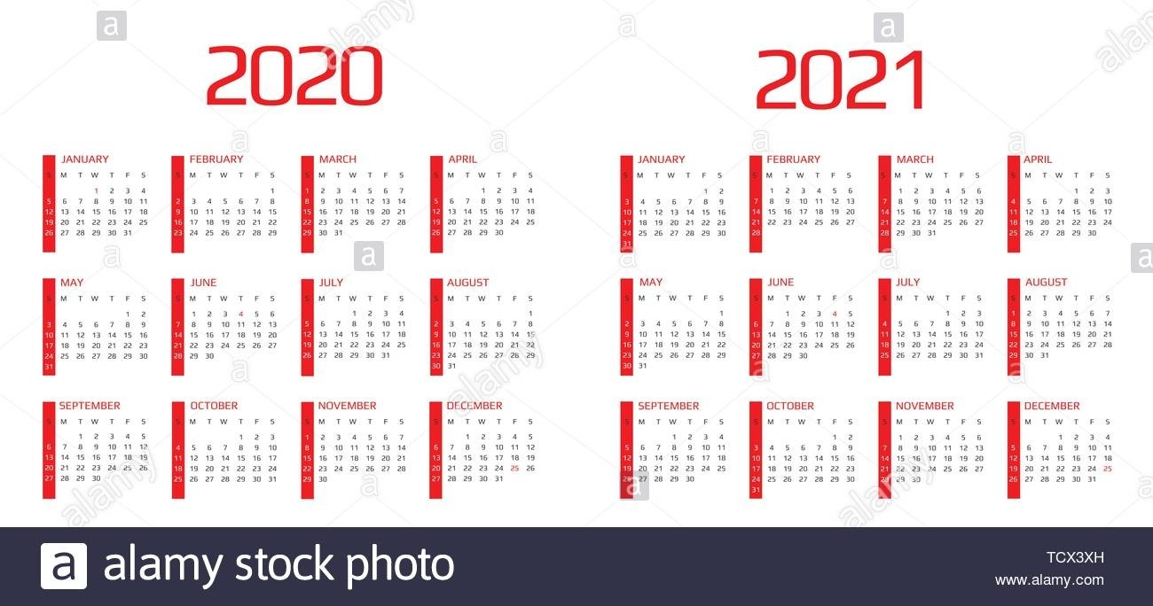 Calendar 2020 And 2021 Template. 12 Months. Include Holiday  Printable 12 Month 2020 2021 Calendar