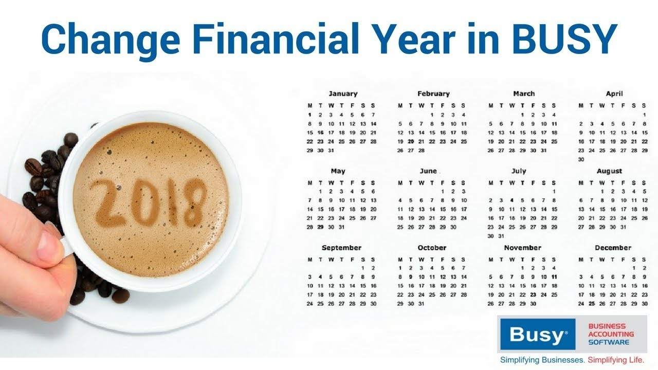 Change Financial Year In Busy (Old) - Hindi  Fin Year 18-19