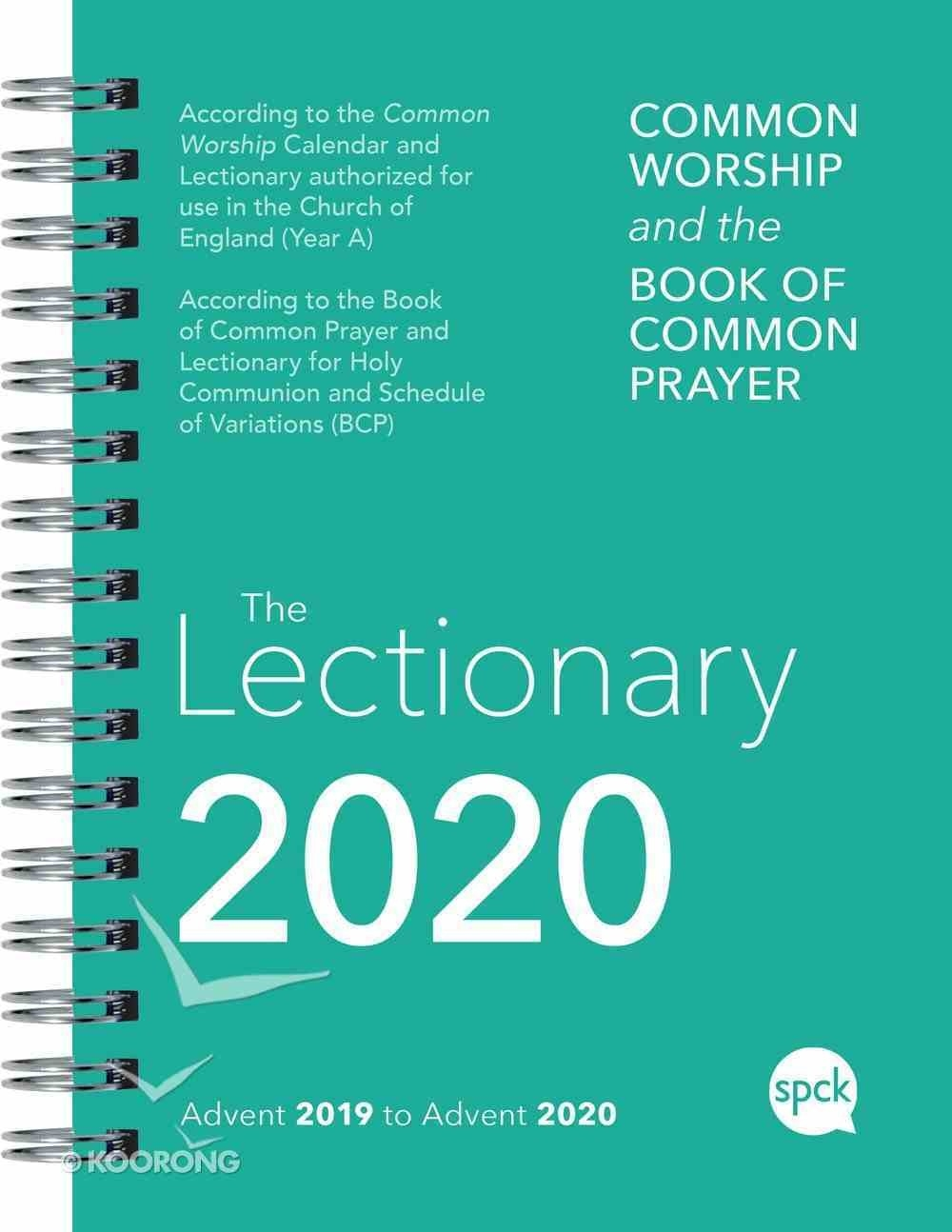 Common Worship Lectionary 2020  Revised Common Lectionary 2020 Calendar