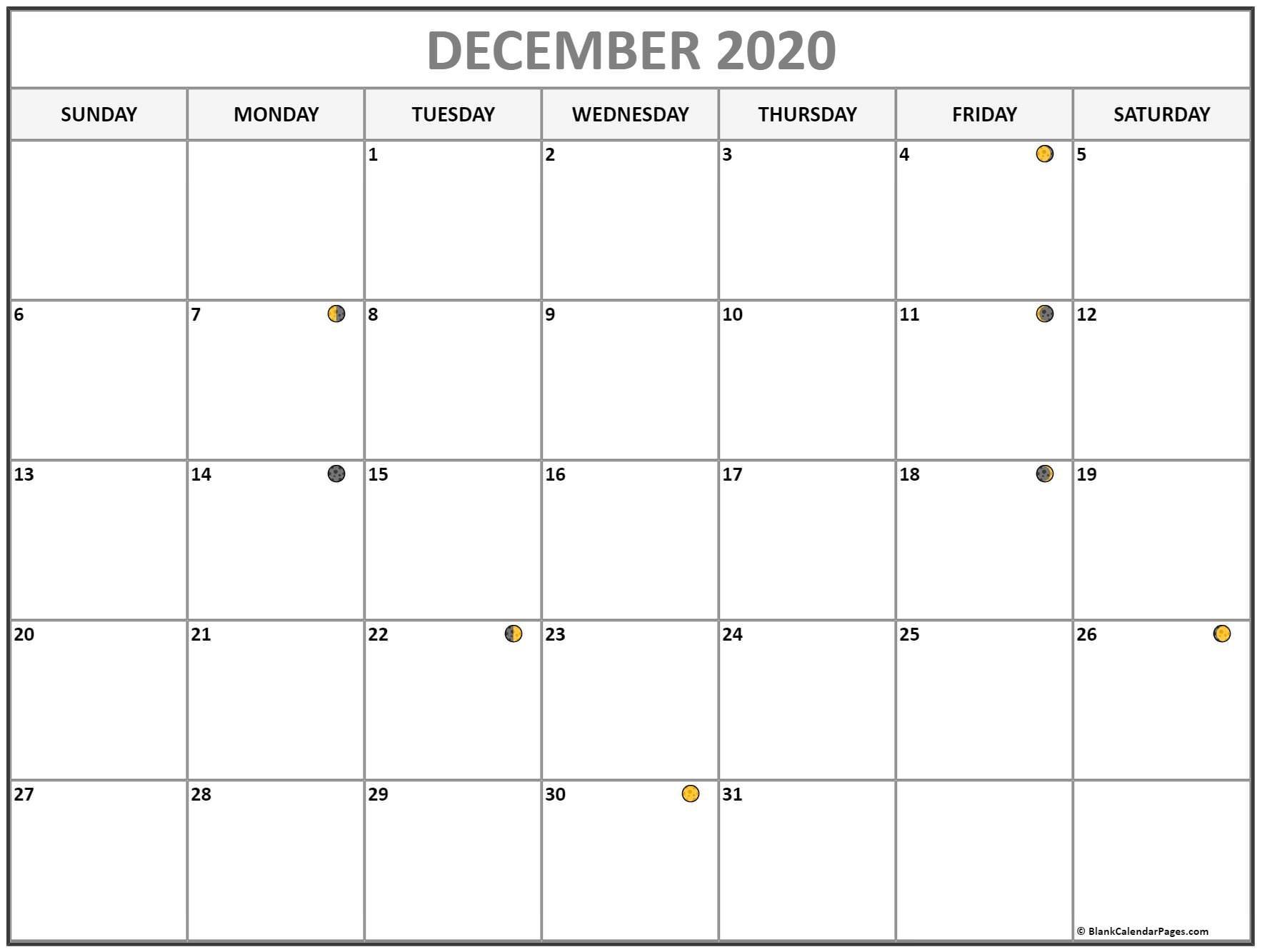 December 2020 Lunar Calendar | Moon Phase Calendar  Solar Lunar Calendar 2020