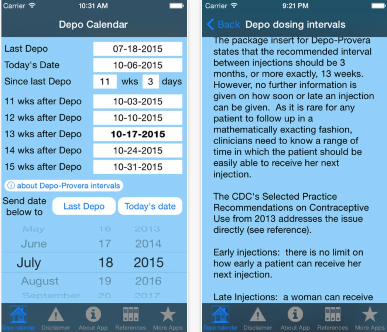 Depo Calendar App Could Significantly Improve Contraception  Depo Provera Injection Calendar Chart