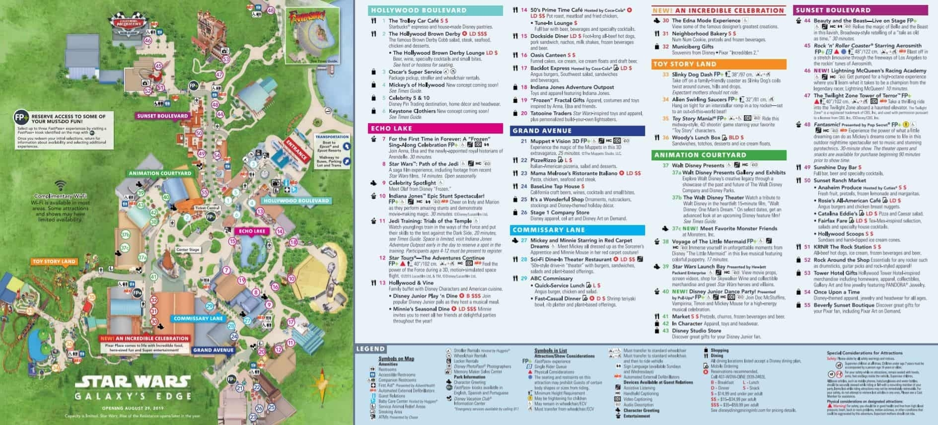 Disney World Maps - Download For The Parks, Resorts, Parties  Printable List Of Disney World Rides 2020