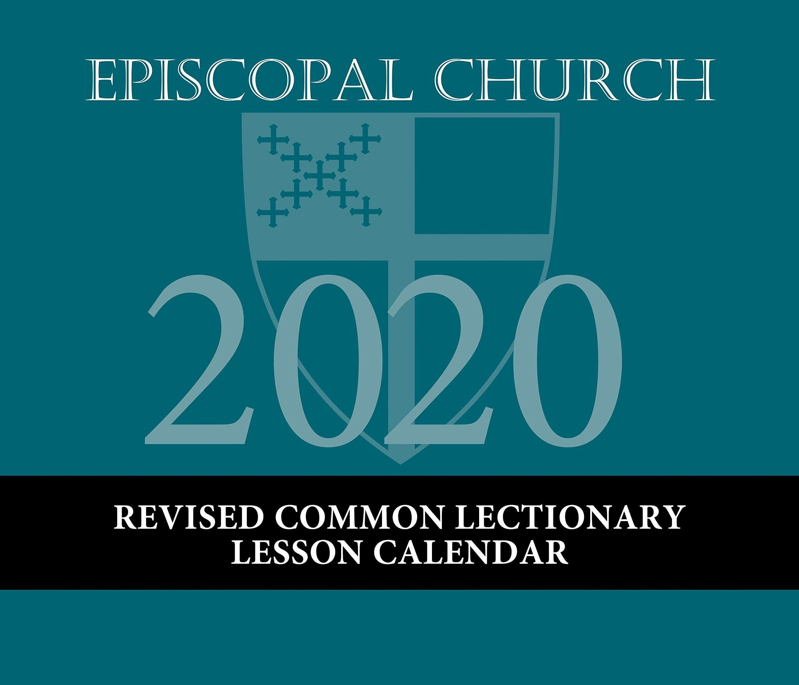 Episcopal Church Lesson Calendar Rcl 2020: December 2019 To  Revised Common Lectionary 2020