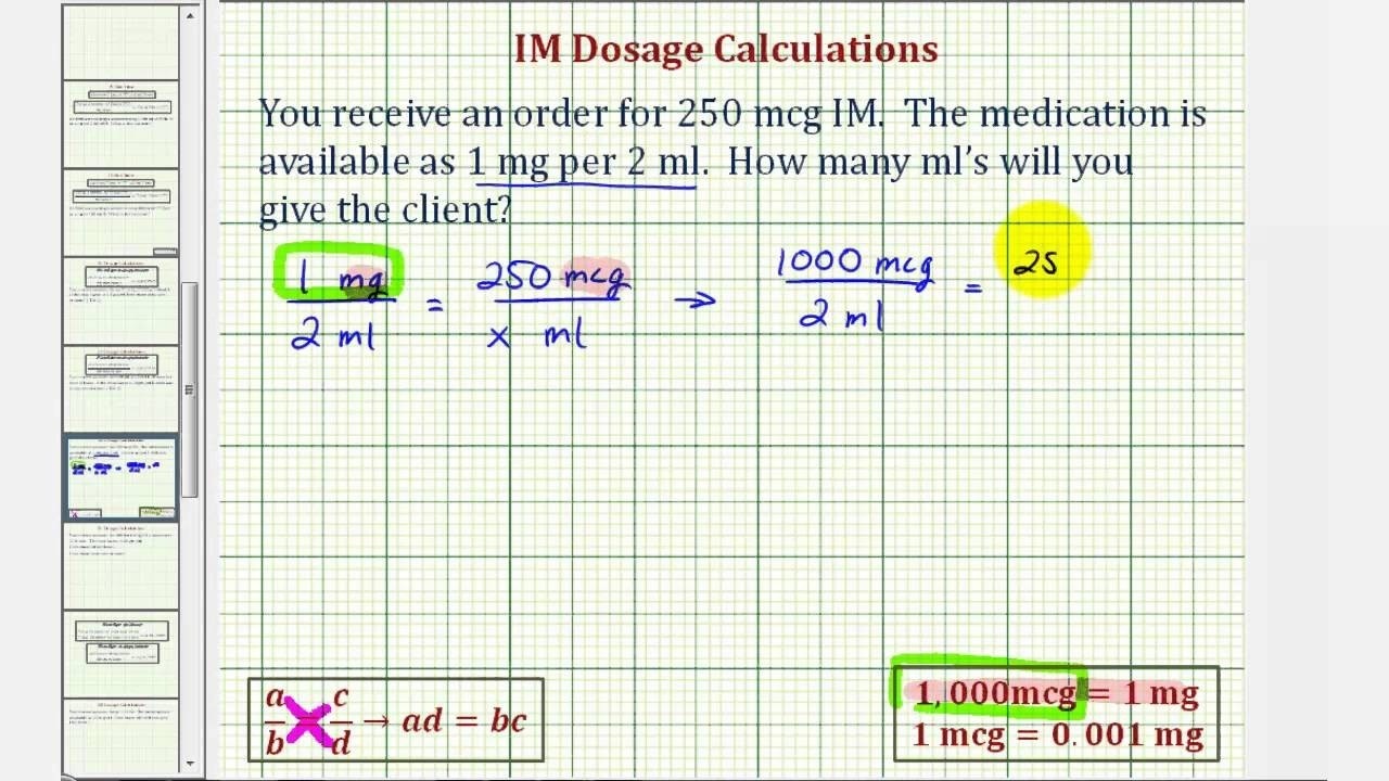 Ex 1: Im Medication Dosage Calculation - Two Steps  Calculate Next Depo Shot