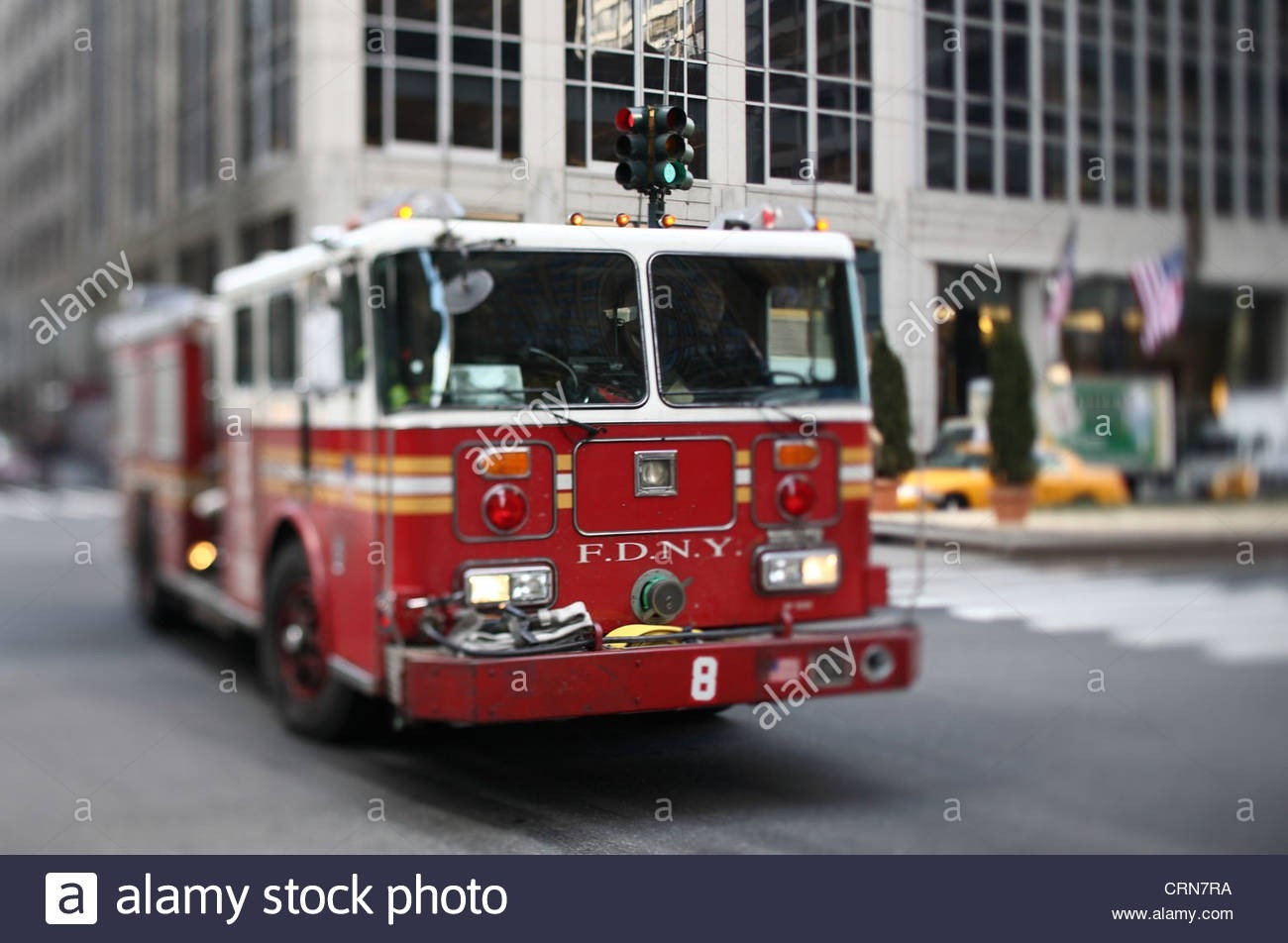 F.d.n.y Vehicle In Midtown Manhattan (Selective Focus - Tilt  What Are The Nyfd Shifts