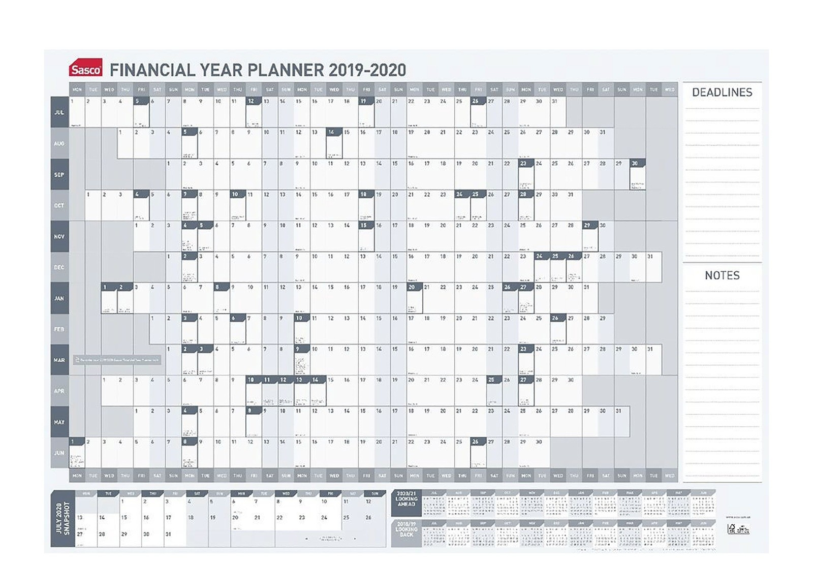 Financial Year Calendar 2020 - Akali  Financial Year 19 Australia