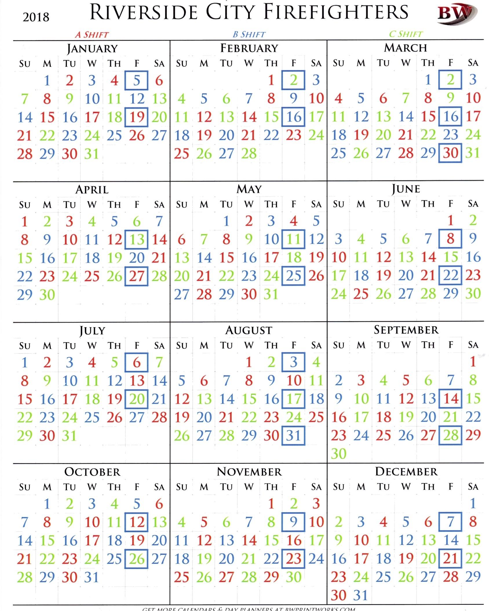 Fire Department Shift Calendar - Akali  Phoenix Fire Shift Calendar 2020
