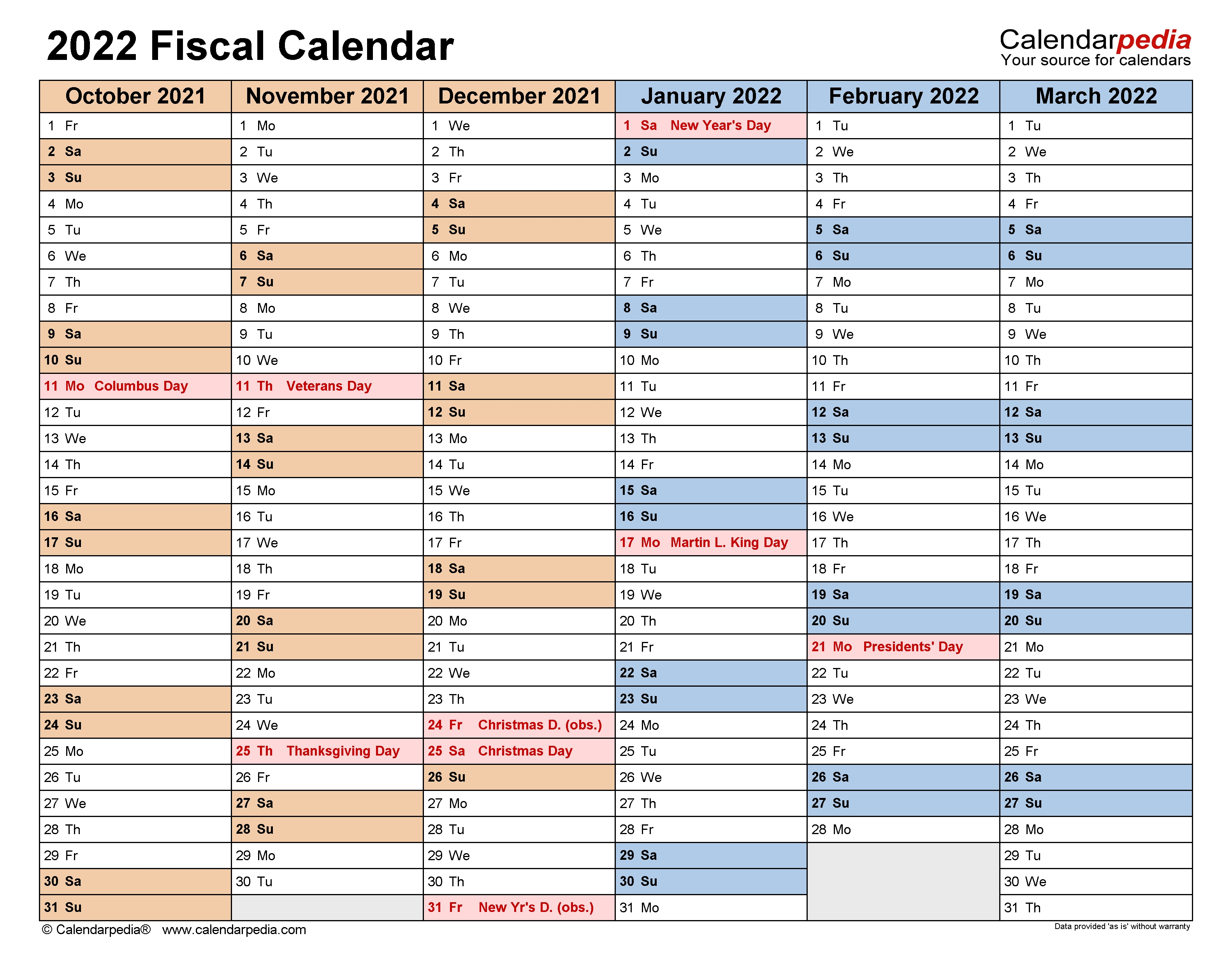 Fiscal Calendars 2022 - Free Printable Pdf Templates  18-19 Financial Year Dates