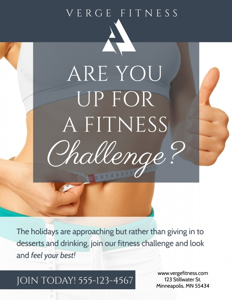 Fitness Challenge Flyer Template | Mycreativeshop  Fitness Challenge Templates