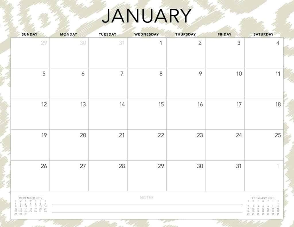 Free 2020 Printable Calendars - 51 Designs To Choose From!  2020 Calendar Free Printable