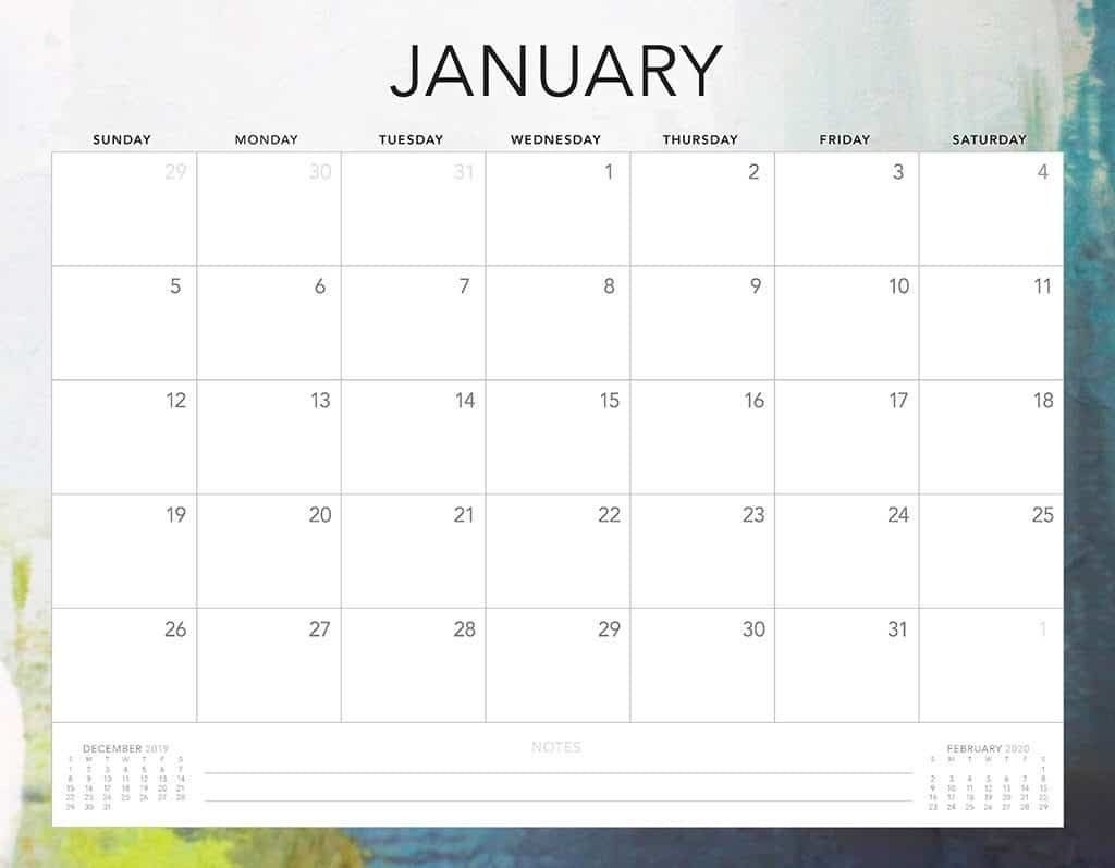 Free 2020 Printable Calendars - 51 Designs To Choose From!  Calendar Print Off