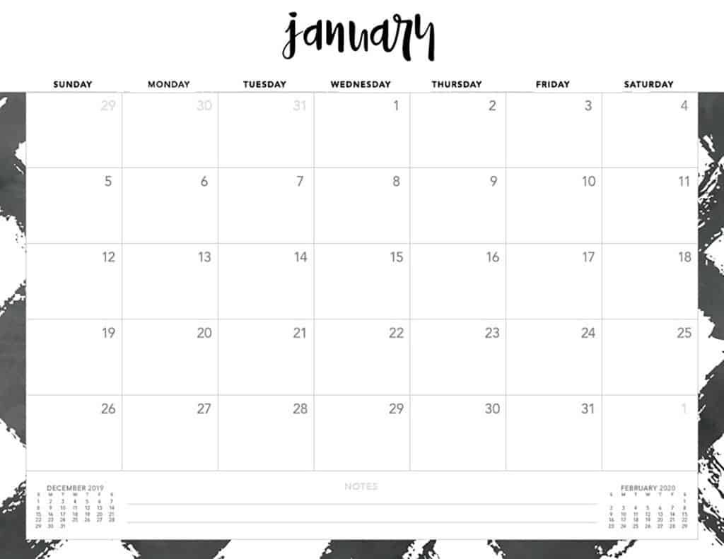 Free 2020 Printable Calendars - 51 Designs To Choose From!  Free Printable Calendars 2020 Monthly