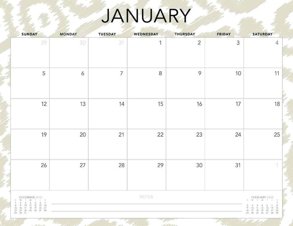Free 2020 Printable Calendars - 51 Designs To Choose From!  Free Printable Calendars 2020 Monthly
