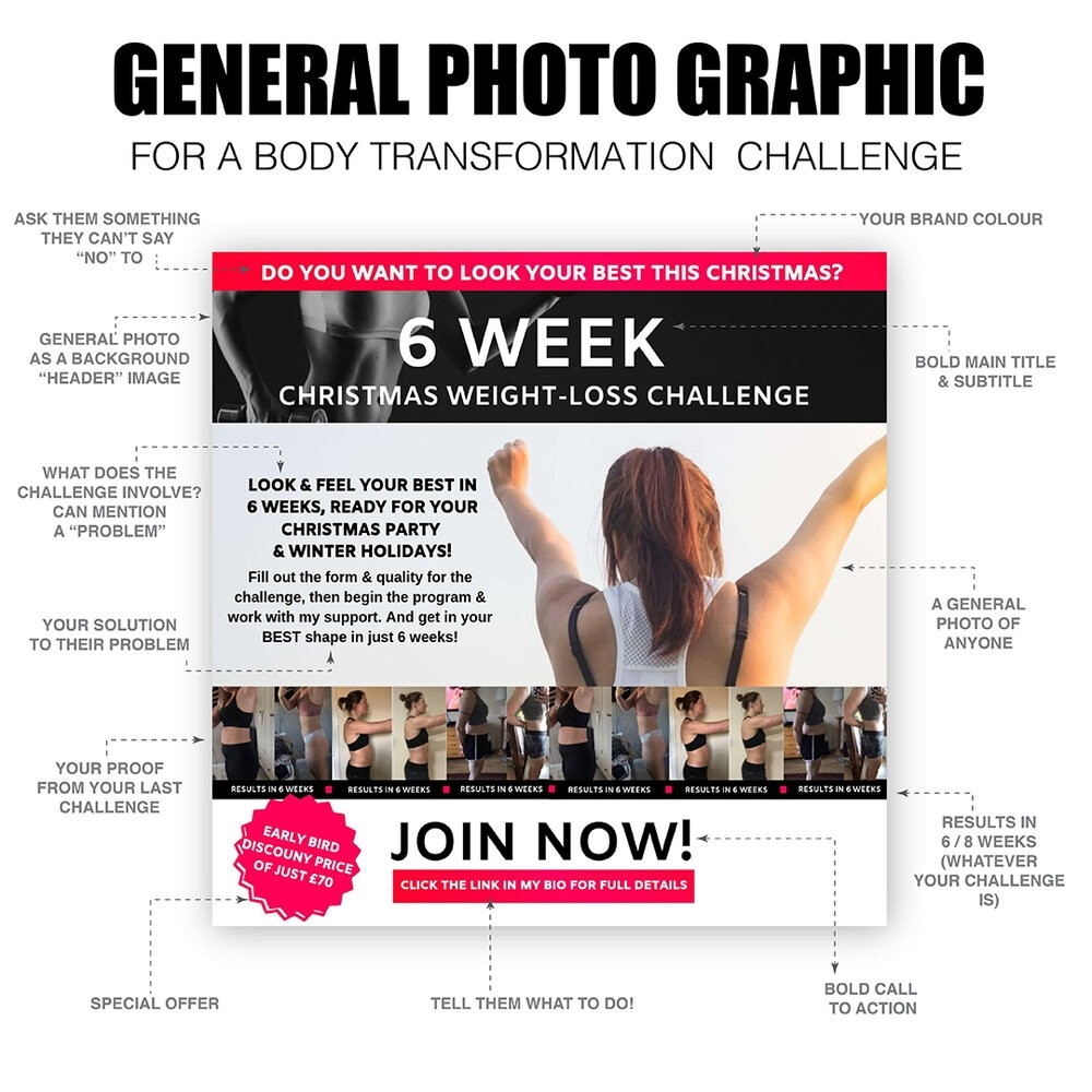 Free Canva Graphic Template — Colescreative  Free Fitness Challenge Templates