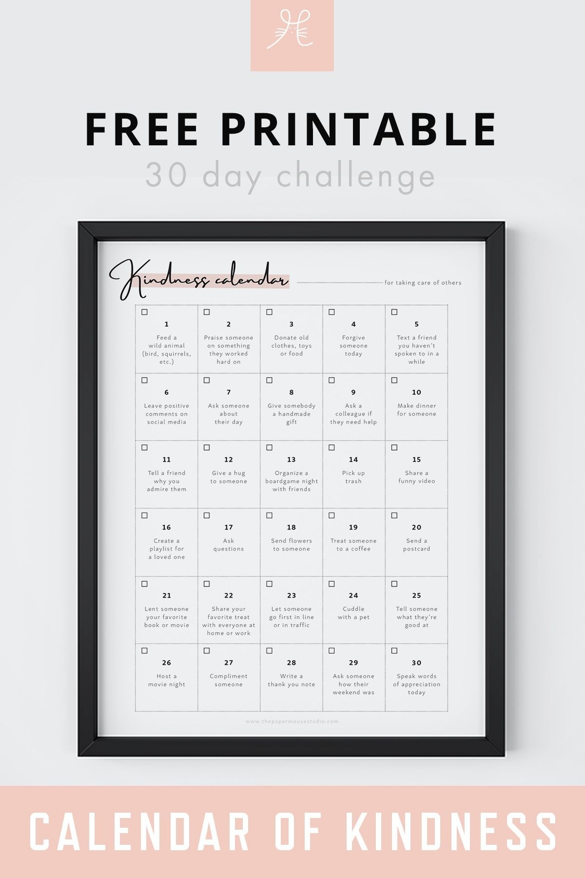 Free Downloads | Printables Freebies, Free, Inspirational Quotes  30 Day Challenge Calendar