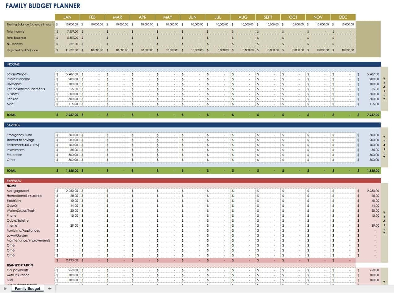 Free Financial Planning Templates | Smartsheet  Australain Pension Budgeting Calenar Of Financial Year