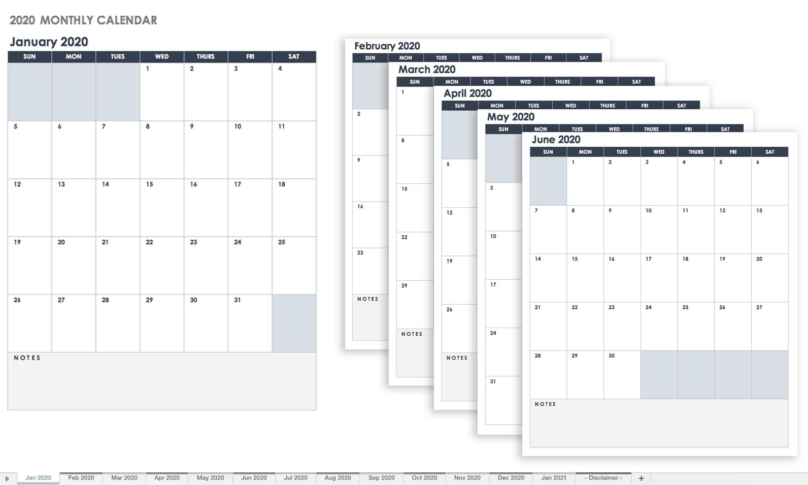 Free Google Calendar Templates | Smartsheet  Free Bill Pay Calendar 2020
