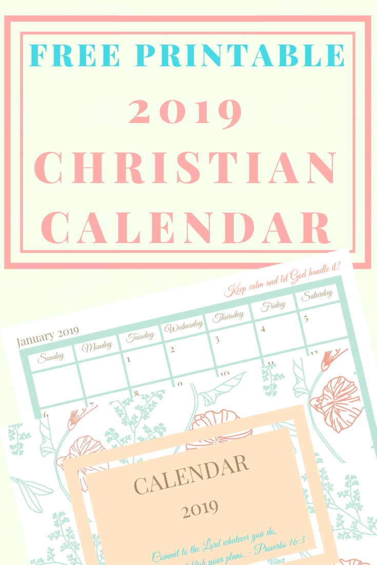 Free Printable 2020 Christian Calendar And Planner  Calendar Templates For Churches