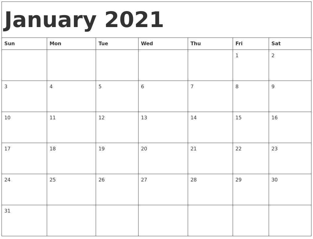 Free Printable 2021 Monthly Calendar With Holidays Word Pdf  Free Monthly Calendar Template 2021