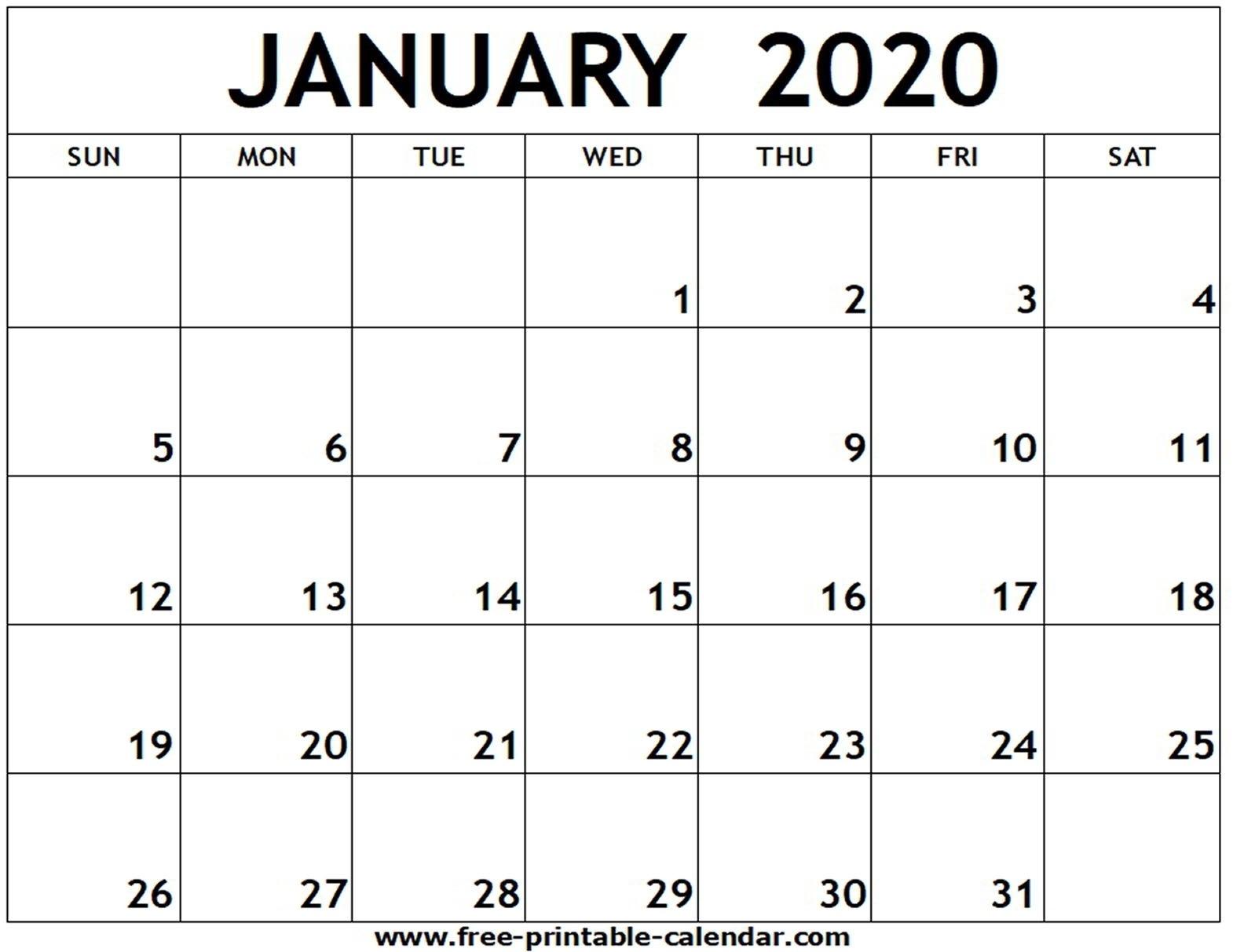 Free Printable 4X6 Calendar 2020 | Monthly Printable Calender  Free 4X6 Printable Calendar 2020