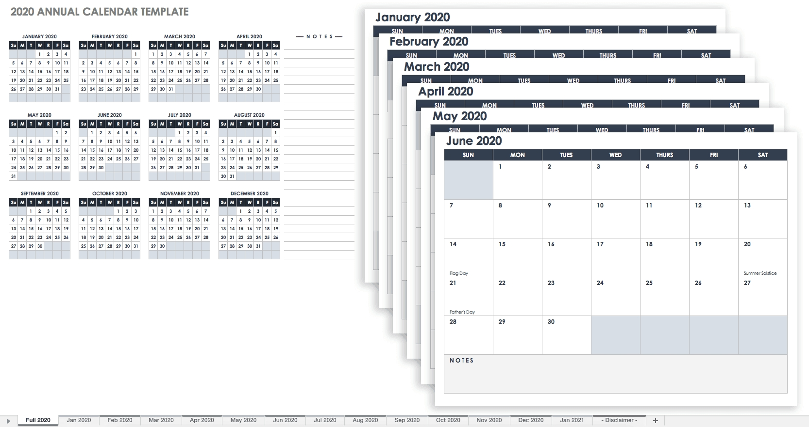 Free, Printable Excel Calendar Templates For 2019 & On  2020 Calendar Template Free 3 Months Per Page