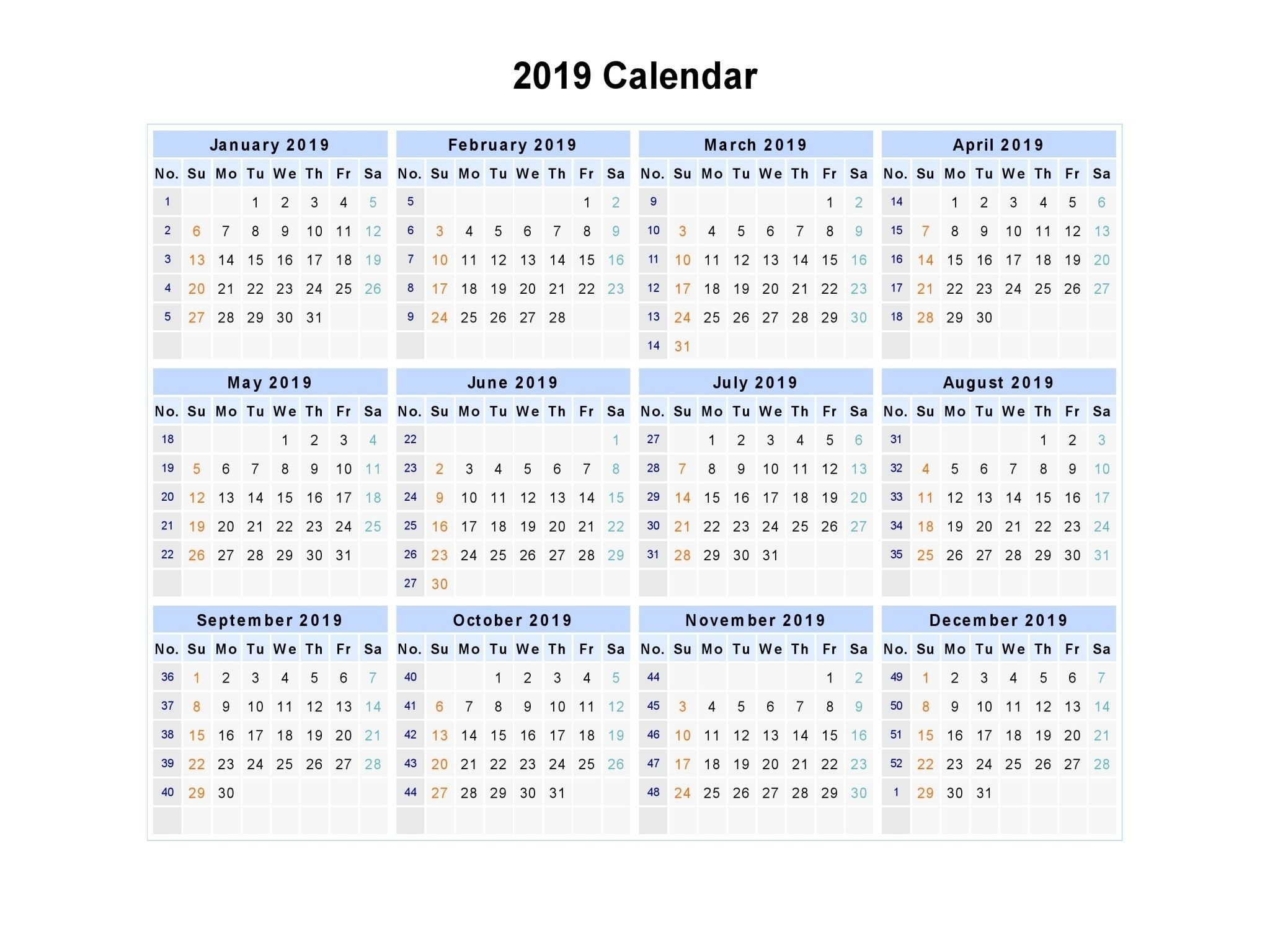 Free Yearly 12 Month Calendar One Page Template Printable  Print Pocket 2021 Calendar Free