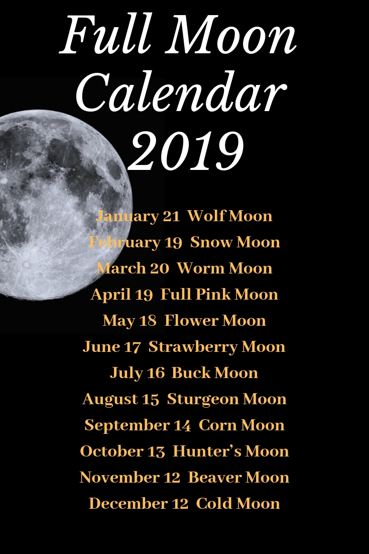Full Moon Calendar 2019!mad Witch Supplies Northern  Full Moon Calender