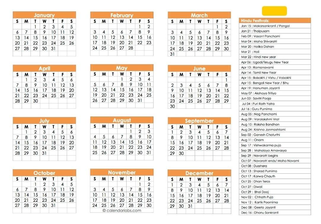 Hindu Calendar 2019 | Festivals, Tyohar, Panchang, Tithi  Hindu Calendar 2021 With Tithi