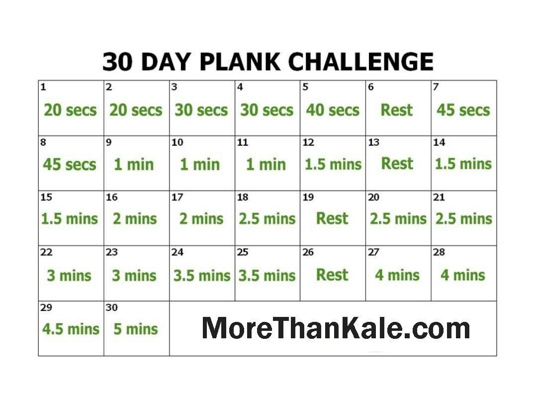Innovative 30 Day Plank Challenge Printable Pdf Calendar  30 Day Beginner Plank Challenge Printable Pdf