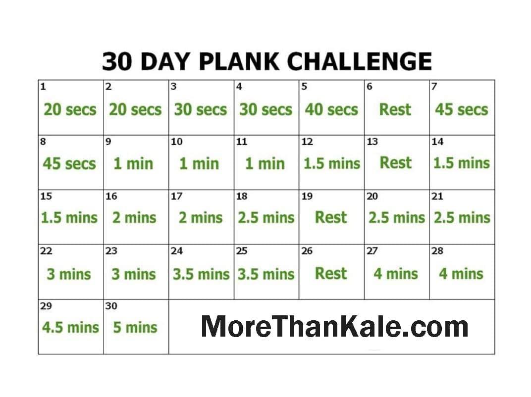 Innovative 30 Day Plank Challenge Printable Pdf Calendar  30 Day Challenge Printable Chart