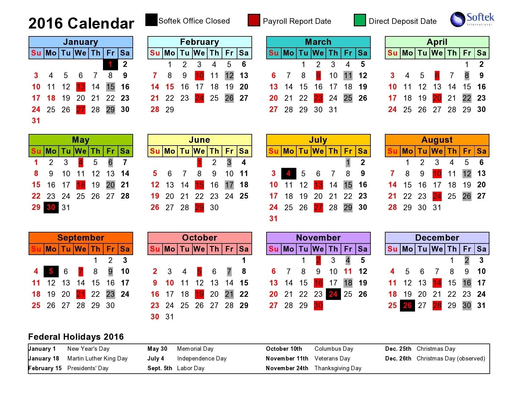 Intuit Payroll Holiday Calendar 2020 | Payroll Calendar 2020  Printable Bill Pay Calendar 2020
