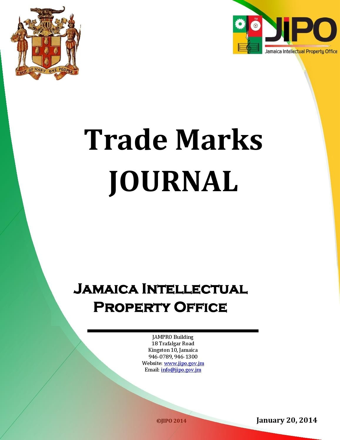 January 2014 Trade Marks Journaljamaica Intellectual  Julan Code 2021