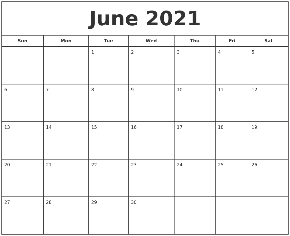 Print Free Calendars Without Downloading - Template ...