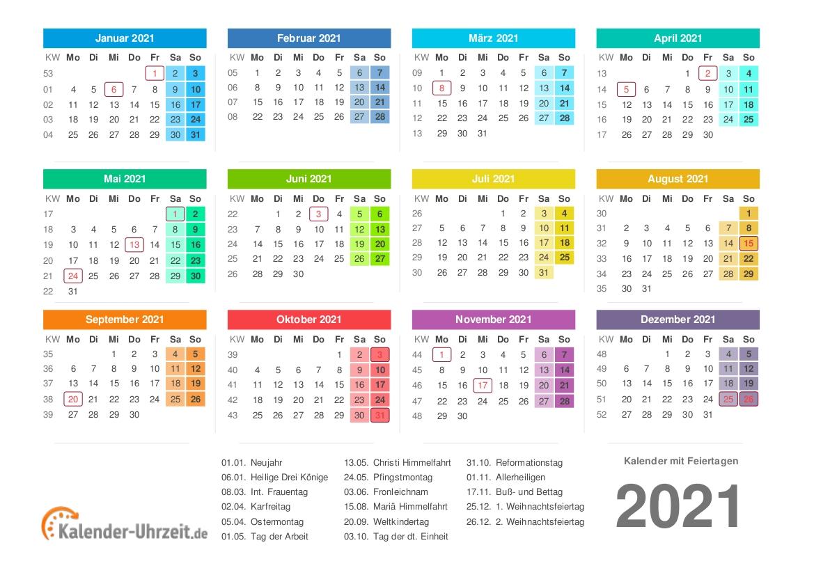 Kalender 2021 Zum Ausdrucken - Kostenlos  50 Kalenderwoche 2021