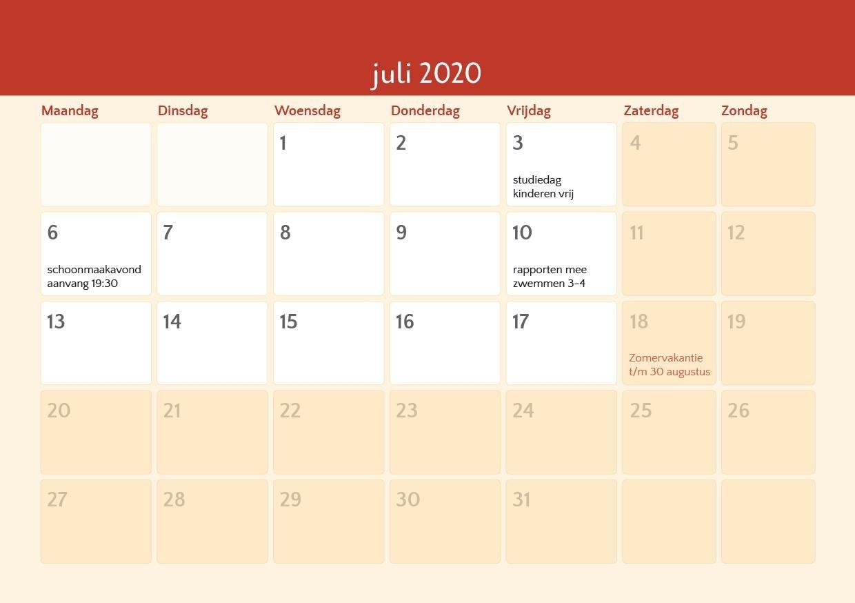 Kalender - De Korenburg  Kalender Maart 2020
