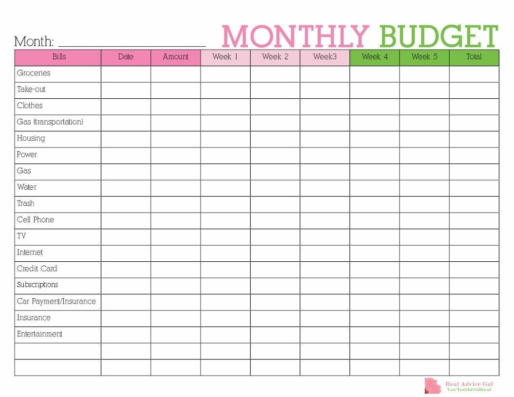 Keep Track Of Your Monthly Expenditures With This Free  Printable Monthly Bills Sheet With Calendar
