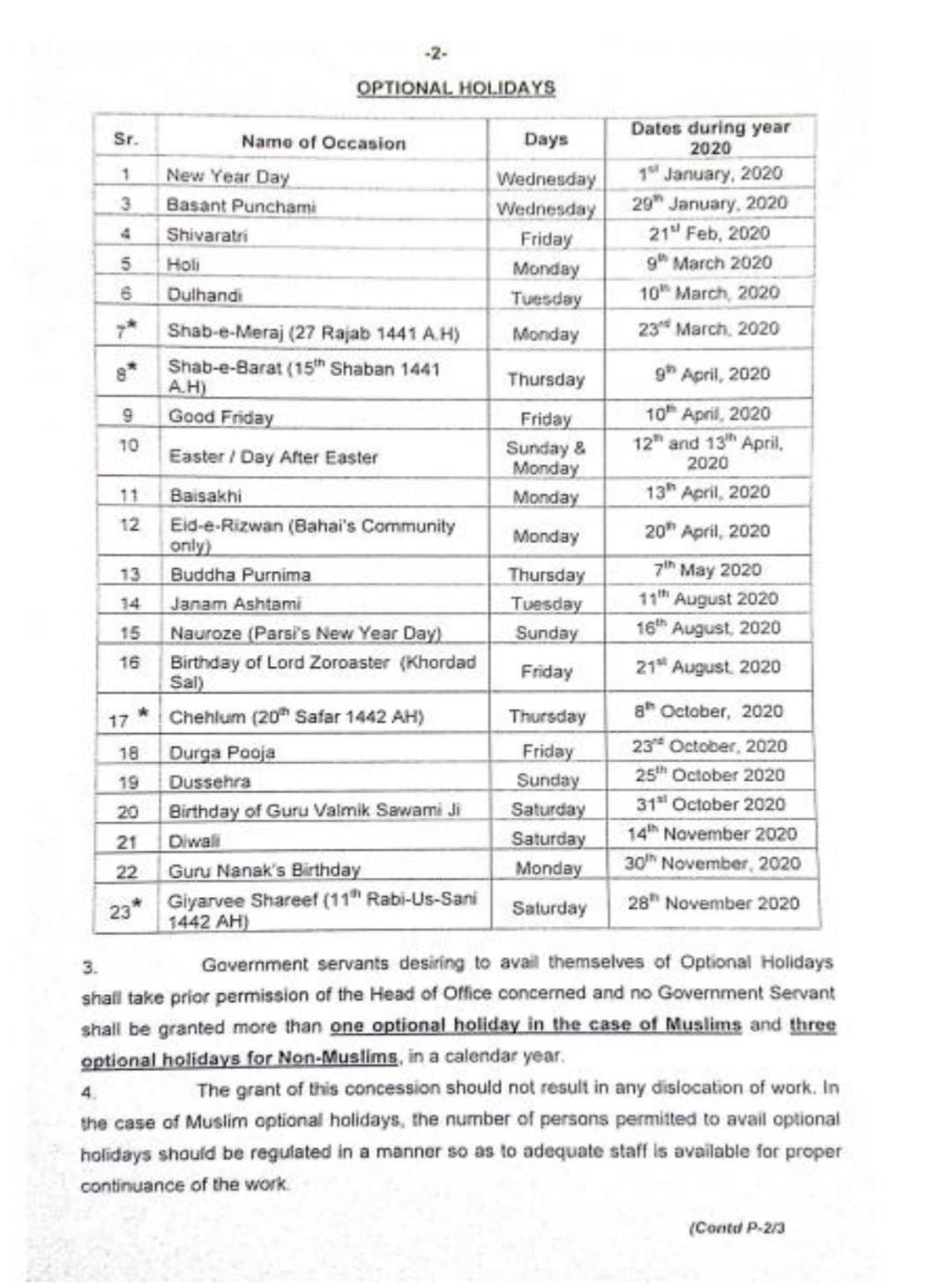 Labour Lawsnaveed Raja  Pakistan Holidays 2020