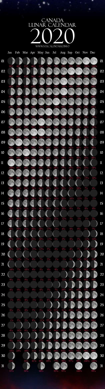 Lunar Calendar 2020 (Canada)  Solar Lunar Calendar 2020