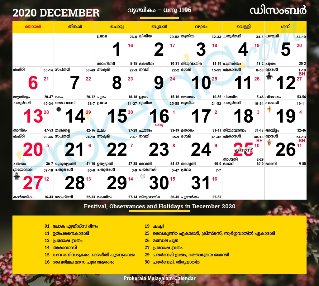 Malayala Manorama Calendar 2020 December | Calendar For Planning  Manorama Calendars 2020