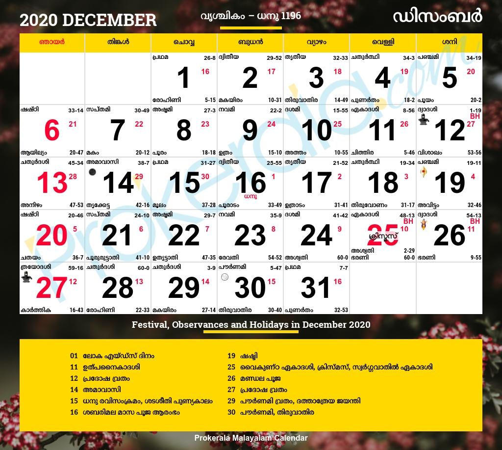Malayala Manorama Calendar 2020 December | Calendar For Planning  Manorama Calendars 2020