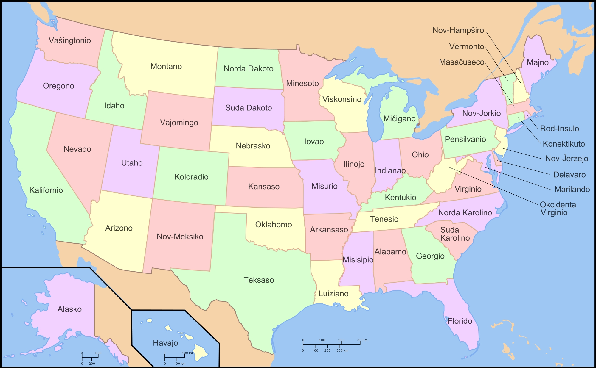 Map Of The United States In Esperanto – Brilliant Maps  The Map Of The United States