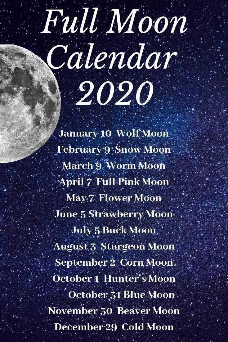 Moon Calendar 2020#moon #sunandmoon #crescnetmoon#fullmoon  Full Moon Calender